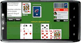 Playing Gin Rummy Club on android phone