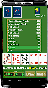 Playing Solitaire on android phone
